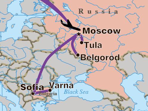SeptemberOctober 2014 Moscow Belgorod Kolomna Kashira Tula
